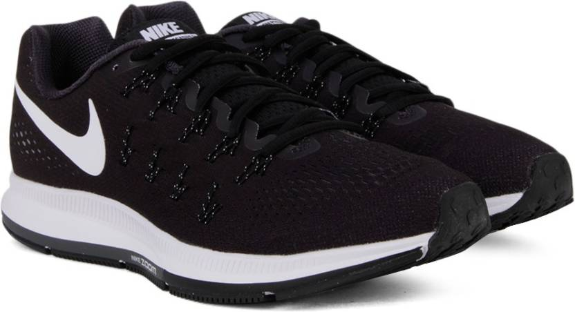 a0844b861 Nike AIR ZOOM PEGASUS 33 Running Shoes For Men - Buy BLACK/WHITE ...