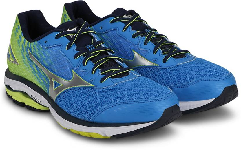 880a8bb284b3 Mizuno Wave Rider 19 Running Shoes For Men - Buy Diva Blue, Silver ...