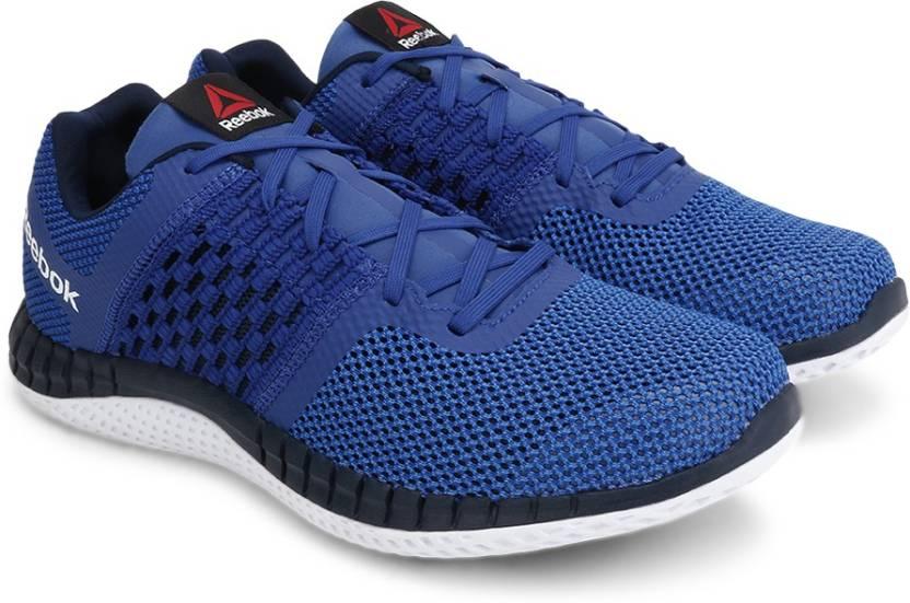31109c0e84fd07 REEBOK ZPRINT RUN Running Shoes For Men - Buy ROYAL BLUE NAVY WHITE ...