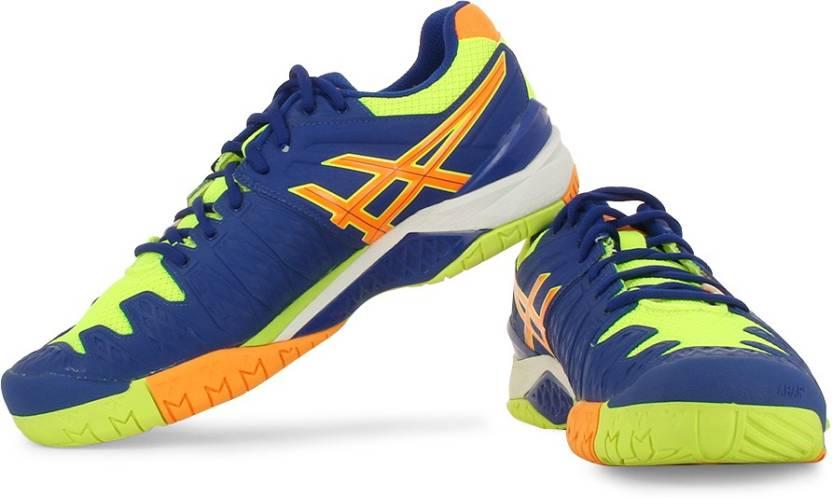 cdbf4d4807 Asics Gel-Resolution 6 Men Tennis Shoes For Men - Buy Blue Yellow ...