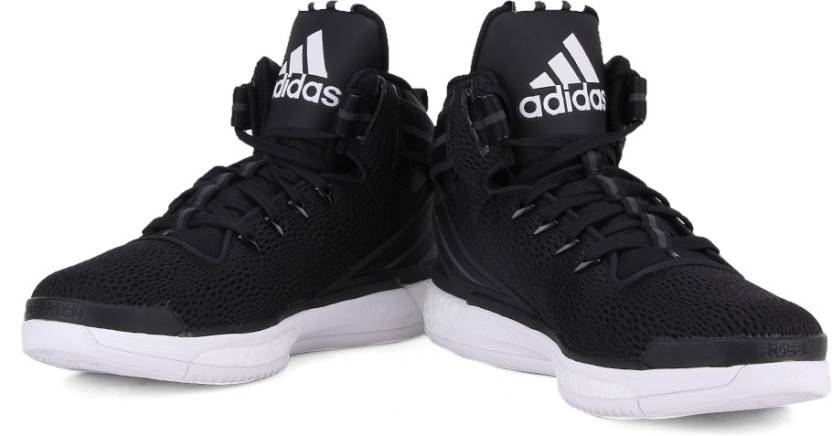 online store 7f268 7b8ea ADIDAS D ROSE 6 BOOST Men Basketball Shoes For Men (Black, White)