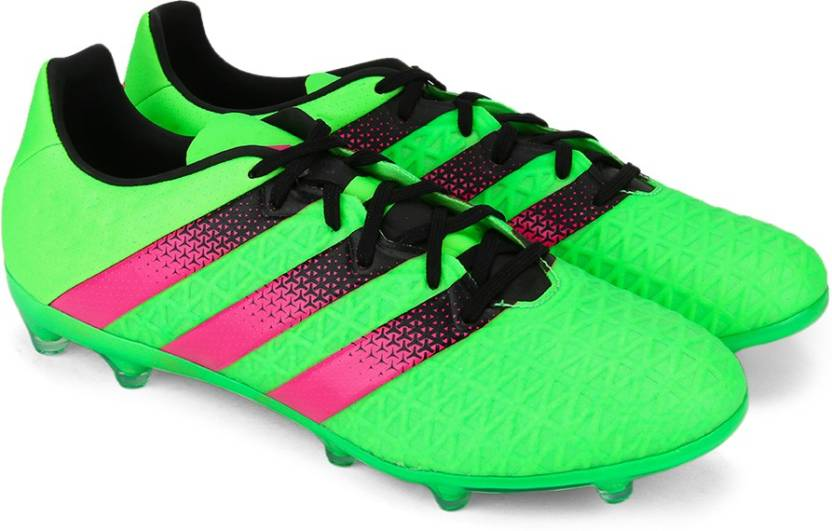 release date: bb453 cb457 ADIDAS ACE 16.2 FG AG Men Football Shoes For Men (Green, Pink)