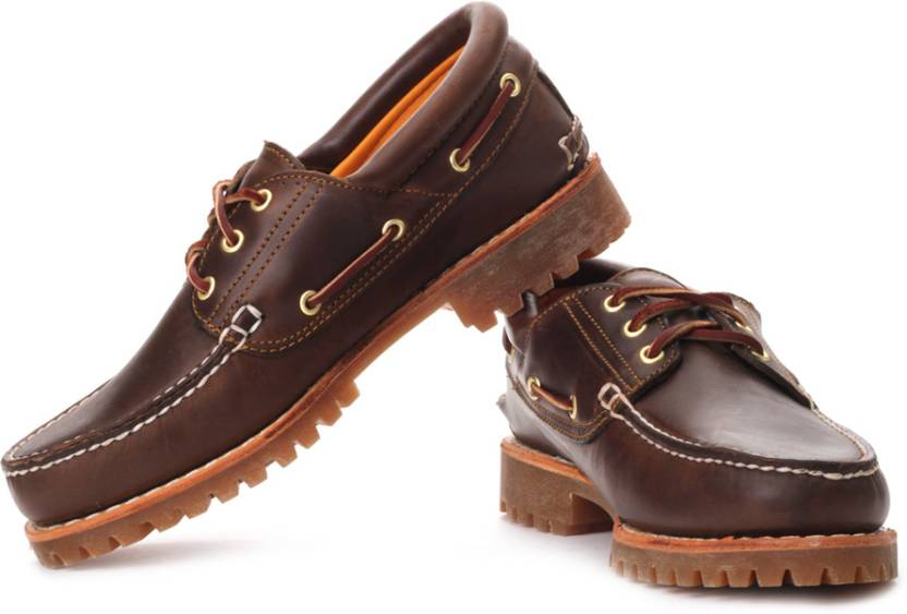 Timberland Trad Hs 3 Eye Lug Boat Shoes For Men - Buy Brown Color ... b3aa5d4539f
