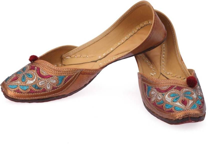 3fb2d12eab Ethnic Collection Women Jp-33 Jutis For Women - Buy Brown Color ...
