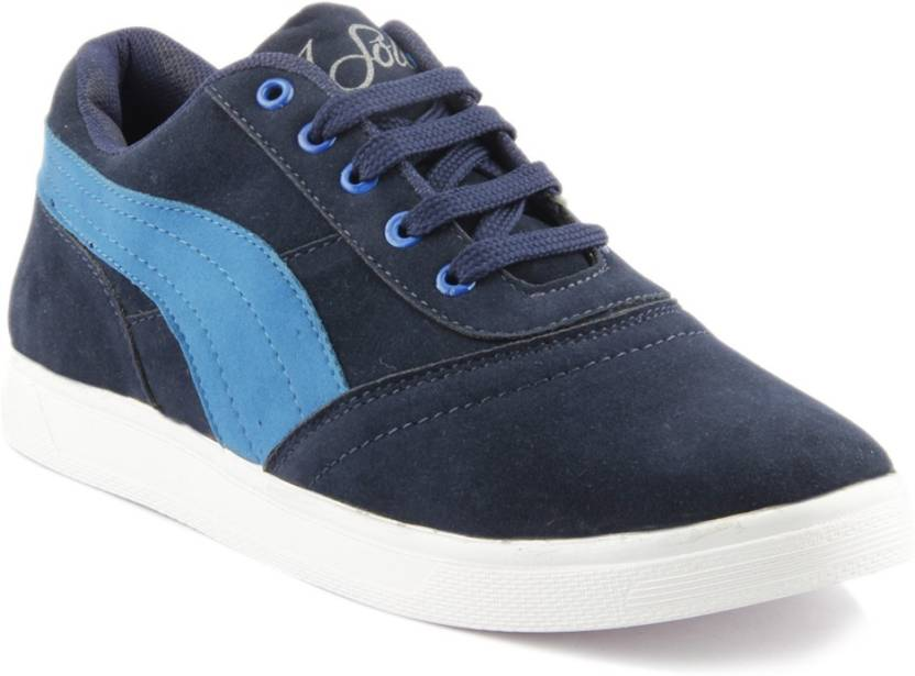 Isole Canvas Shoes For Men - Buy Dark Blue Color Isole Canvas Shoes ... f004a4781