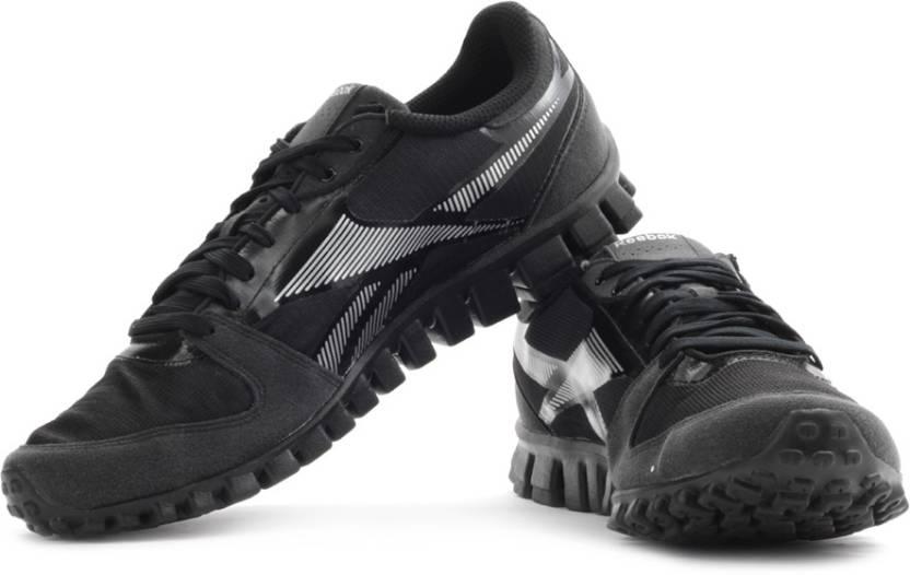 ba29292b8 REEBOK Realflex Optimal Running Shoes For Men - Buy Black, White ...