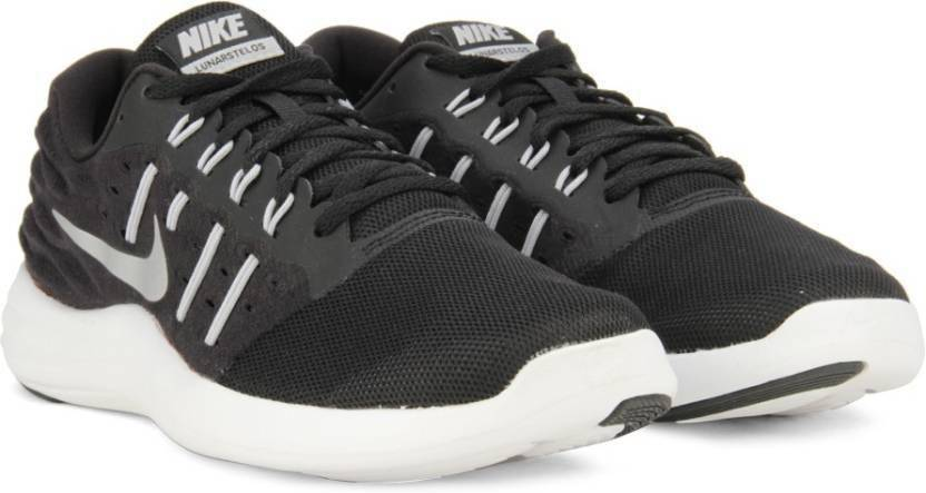 b19ac5109fb Nike LUNARSTELOS Running Shoes For Men - Buy BLACK METALLIC SILVER ...