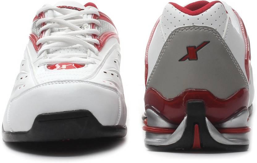 Sparx SM-100 Running Shoes For Men(White, Red, Black)