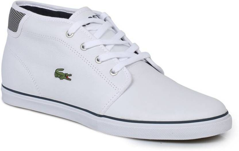9825851dc8d0 Lacoste Ampthill White Trainers Casual Shoes For Men - Buy Blue ...