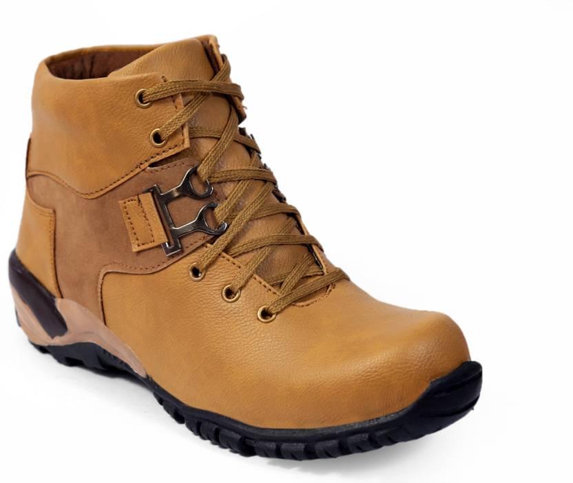 6a9cc75d3b5 DLS DLS DLS Tan casual party wear boots shoes for men's Party Wear For Men  (Tan) Boots For Men (Tan) Boots For Men