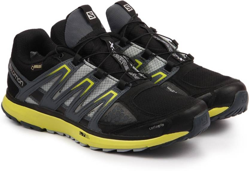 best service 6de11 71a96 Salomon X-SCREAM GTX  BLACK GY GECKO GREE Trail Running Shoes For Men  (Black, Yellow)
