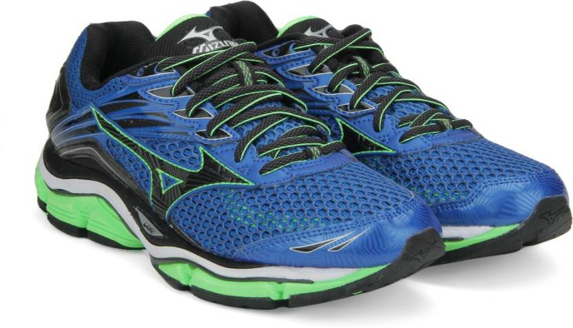 8fbe71027e82 Mizuno WAVE ENIGMA 6 Running Shoes For Men - Buy BLUE/BLACK/GREEN ...