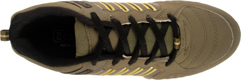 Action Synergy 26288 Walking Shoes For Men(Olive, Yellow)