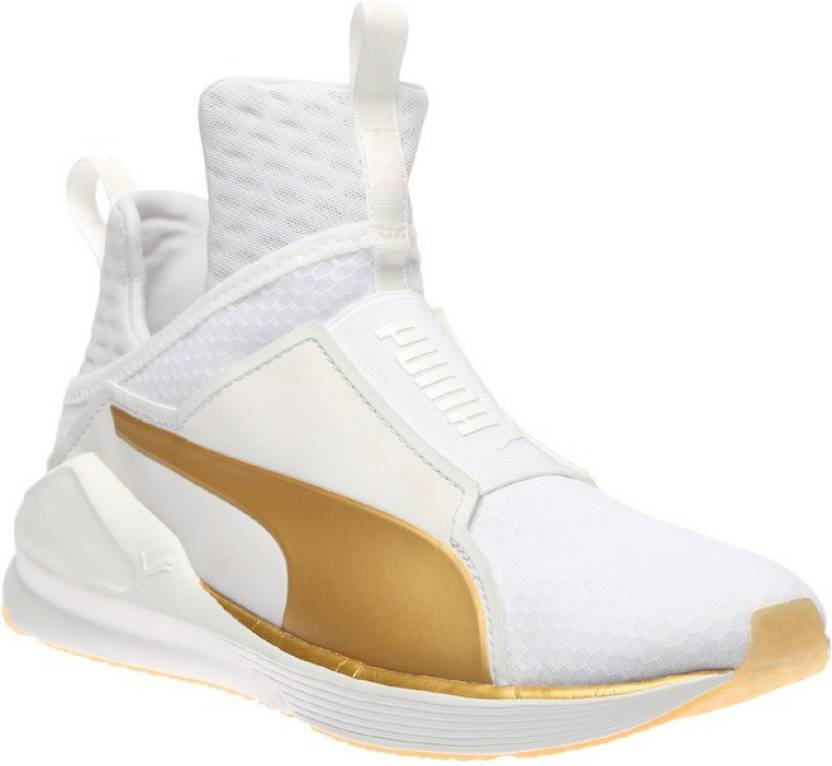 5c6422443fa8 Puma Fierce GOLD Training   Gym Shoes For Women - Buy white-gold ...