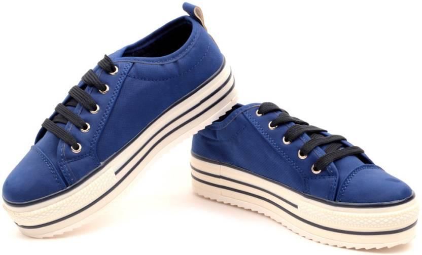 4aca203ac8f Carlton London Contrast Platform Sneakers For Women - Buy Dark Blue ...
