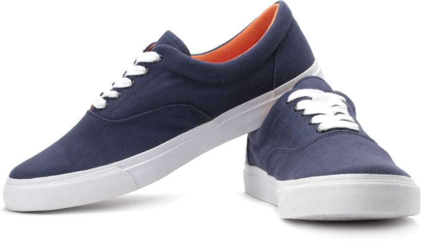 11ef39f1520 United Colors of Benetton Canvas Sneakers For Men - Buy Navy Blue ...