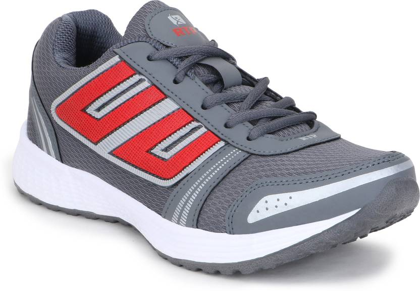 Rich N Topp Swift 6 DGrey Red Running Shoes