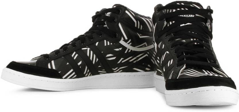buy online e7713 0134d ADIDAS ORIGINALS Americana Hi 88 Mid Ankle Sneakers For Men (Black, White)