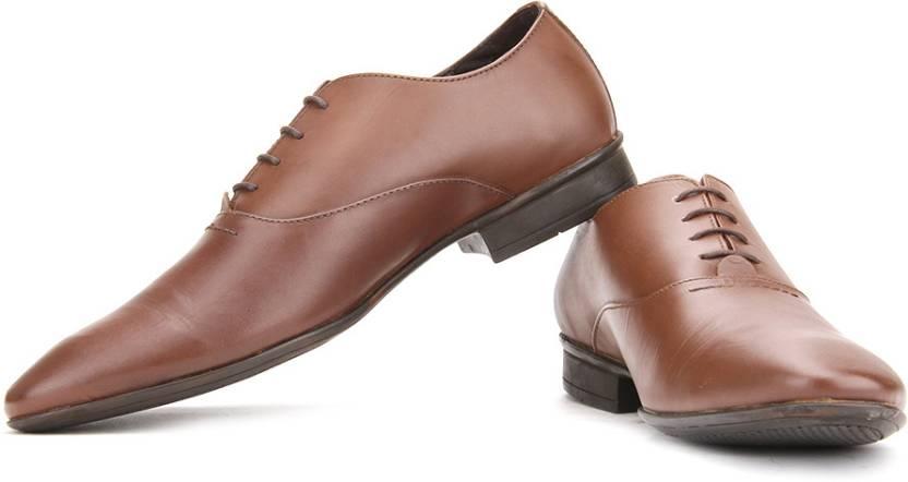 Van Heusen Lace Up Shoes For Men - Buy Dark Tan Color Van Heusen ... b53b370f6