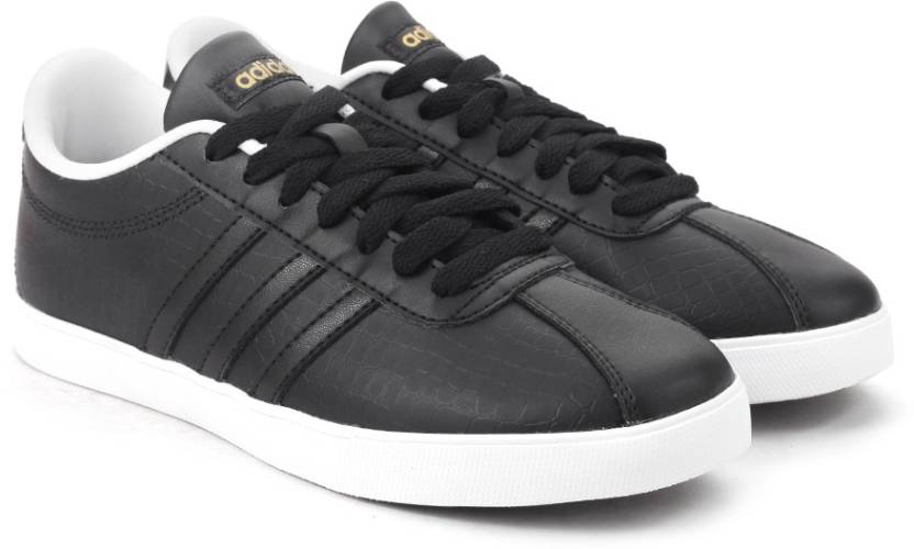 sale retailer 4c8b1 fbeec ADIDAS NEO COURTSET W Sneakers For Women (Black)
