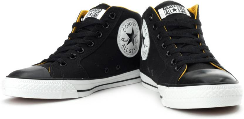 cab61451dc2c Converse Mid Ankle Sneakers For Men - Buy Black