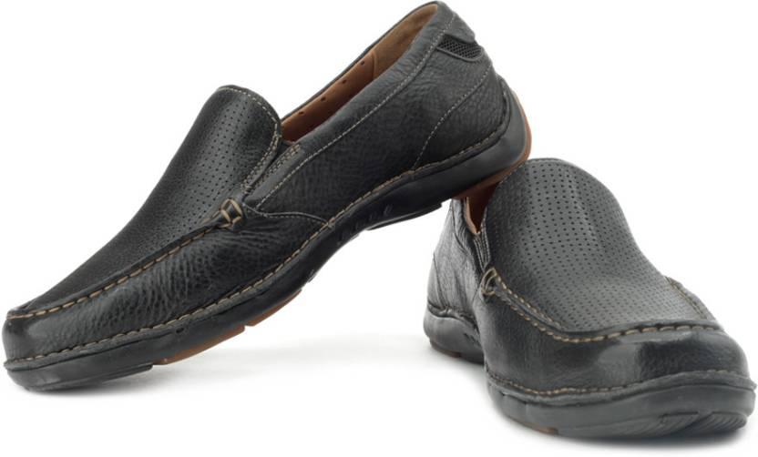 de7f1cce93808 Clarks Un Wind Loafers For Men - Buy Black Color Clarks Un Wind ...