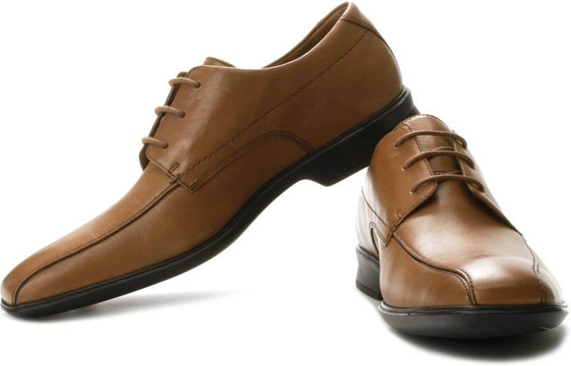 50614342610b Clarks Goya Band Genuine Leather Lace Up Shoes For Men - Buy Tan ...