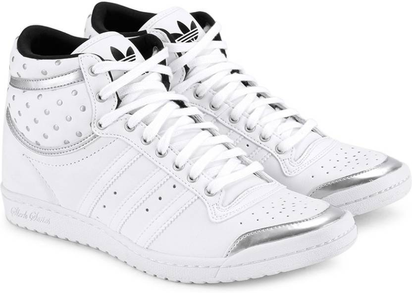 los angeles 6e562 debfd ADIDAS ORIGINALS Top Ten Hi Sleek Up W Mid Ankle Sneakers For Women (White)