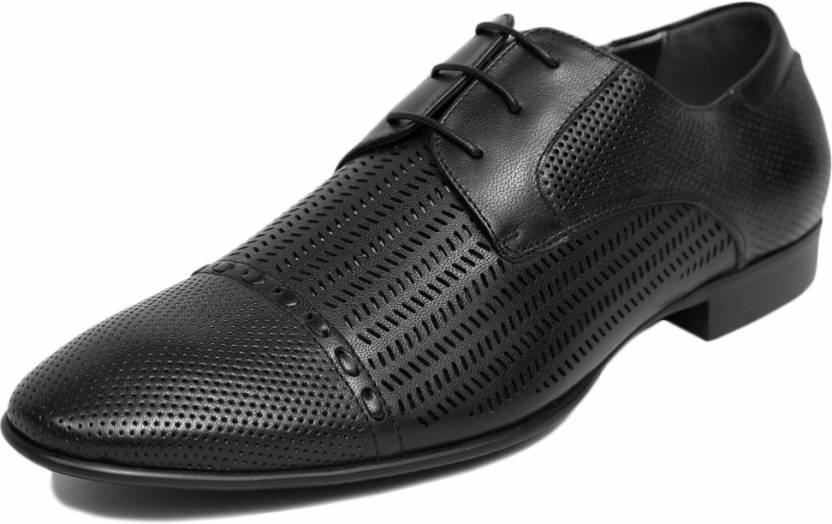 huge selection of e3688 2a492 Rosso Brunello MS-2503 Corporate Casuals For Men - Buy BLACK Color ...