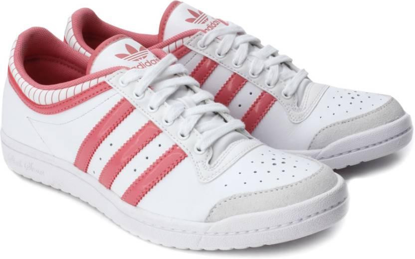 best website d3bbe 7c84f ADIDAS Top Ten Low Sleek W 1 Sneakers For Women (White, Pink)