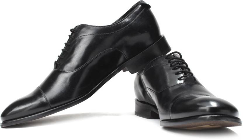 aa22d04c9b0 Ruosh Two Tone Finish Genuine Leather Semi-Formal Shoes For Men (Black)