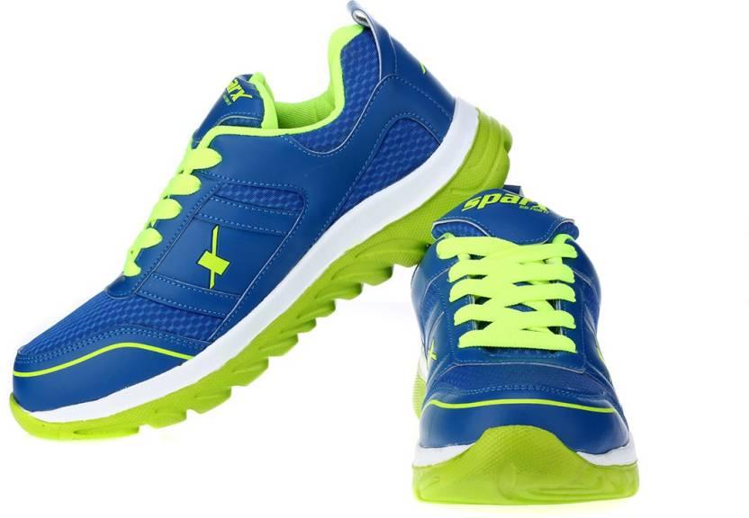 buy popular 88c14 1a1af Sparx Trendy Blue Green Running Shoes For Men (Blue, Green)