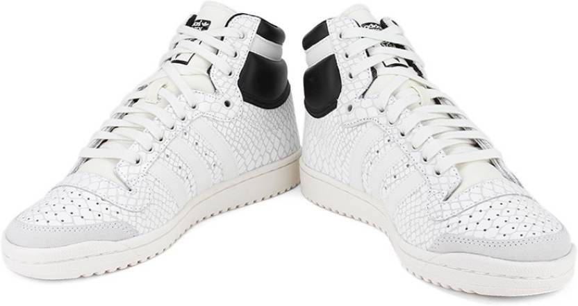 new concept e841b 91a87 ADIDAS ORIGINALS TOP TEN HI W Sneakers For Men (Black, White)