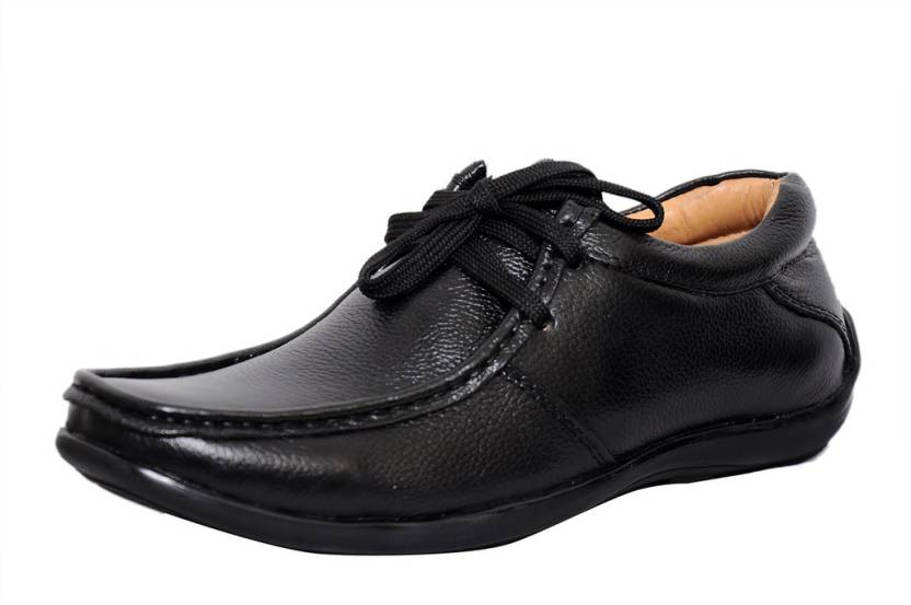 a86a1cfc8 Zoom Zoom Men s Pure Leather Formal Shoes D-2571-Black-9 Lace Up For Men  (Black)