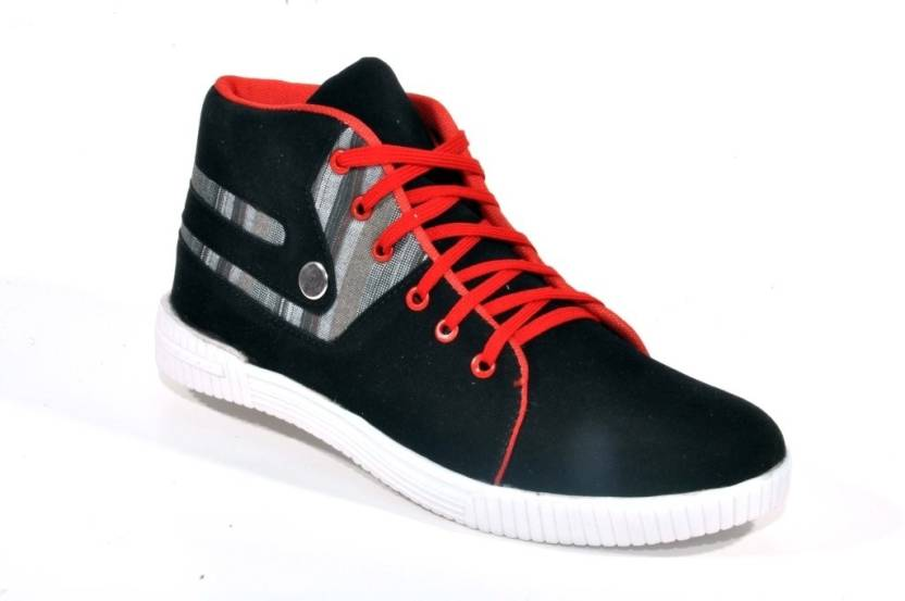 1db4393947da Big Wing Appealing Black   Red Ankle Length Sneakers For Men - Buy ...