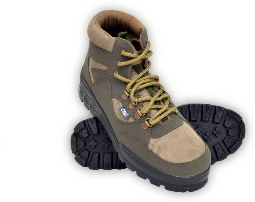 9df4219400a Allen Cooper Light Weight Trekking Boots For Men - Buy Olive Color ...