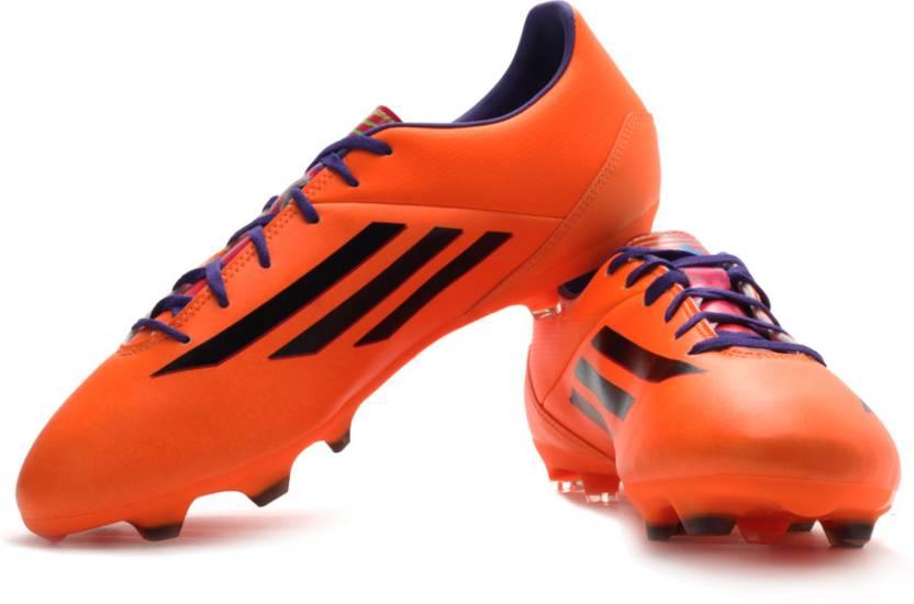 best sneakers e312f a6f41 ADIDAS F10 Trx Fg Football Studs For Men (Black, Orange, Purple, Multicolor)