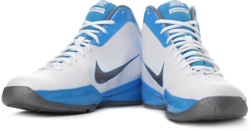 competitive price 20352 2eea9 Nike Air Quick Handle Basketball Shoes For Men (White, Grey, Blue)