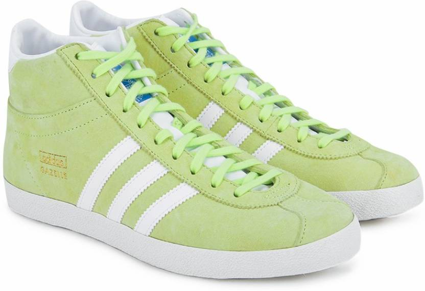 size 40 92f0f 2f6b9 ADIDAS ORIGINALS Gazelle Og Mid Ef W Mid Ankle Sneakers For Women (Green)