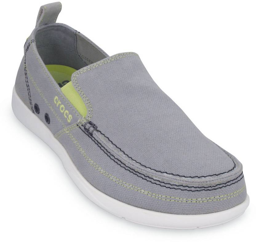 b9b3eabc4955 Crocs Loafers For Men - Buy Light Grey White Color Crocs Loafers For ...