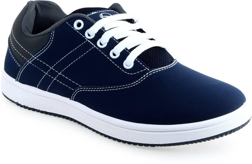 88fd43a5fb Lancer Navy Blue Dark Grey Casual Shoes For Men - Buy Navy & Grey ...