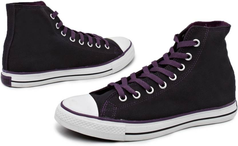 529011e080d2bf Converse Trendy High Tops Canvas Shoes For Men - Buy Dark Purple ...