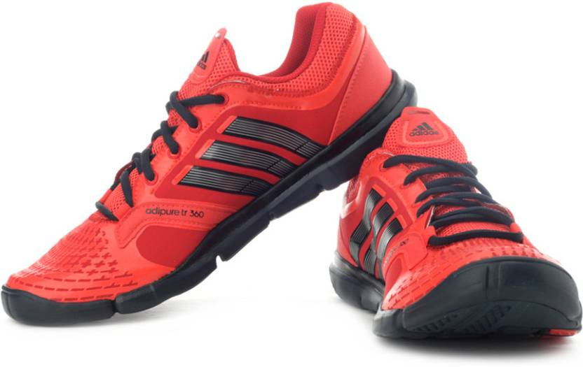 sale retailer 2d5f1 b9c29 ADIDAS Adipure Trainer 360 Training Shoes For Men (Red, Black)
