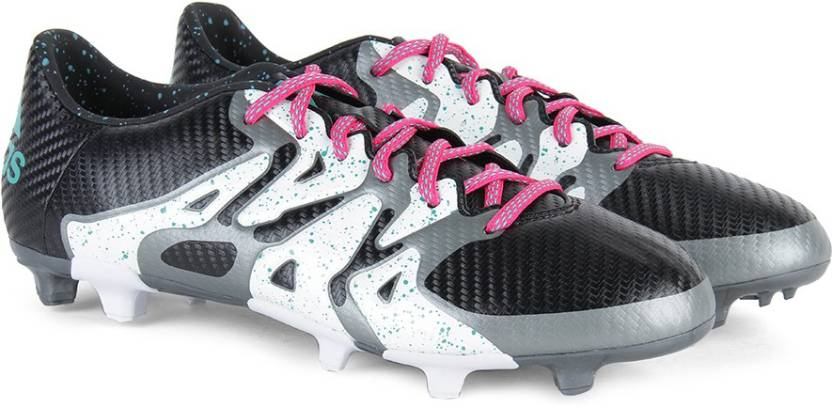 factory authentic a368c 1e8b4 ADIDAS X 15.3 FG AG Men Football Shoes For Men (Black, Green, White)