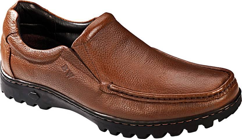 Khadim's British Walkers OLD MAN STYLE Slip On Shoes