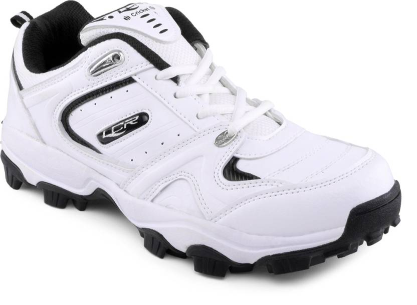 Lancer White Cricket Shoes For Men (White, Black)