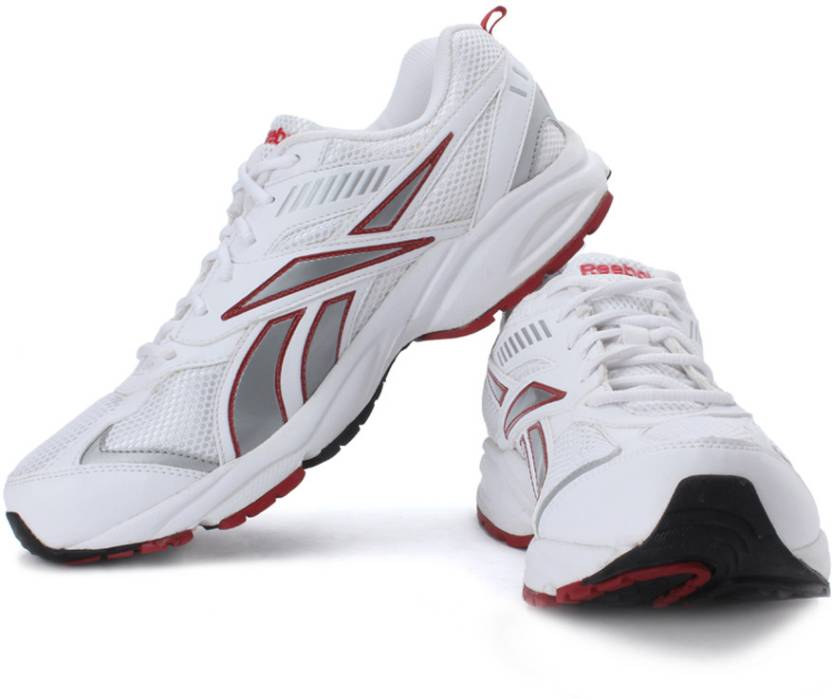 online store 5c386 39895 REEBOK Acciomax II LP Running Shoes For Men (White, Silver, Red)