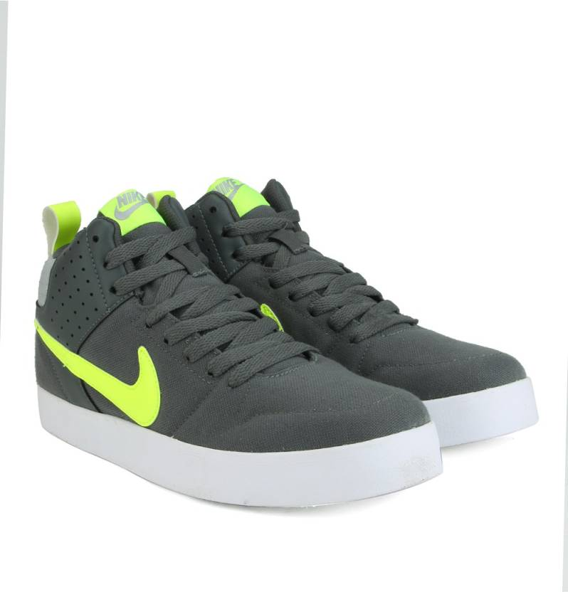 9d1744e9 Nike LITEFORCE III MID Mid Ankle Sneakers For Men (Green, Grey, White)