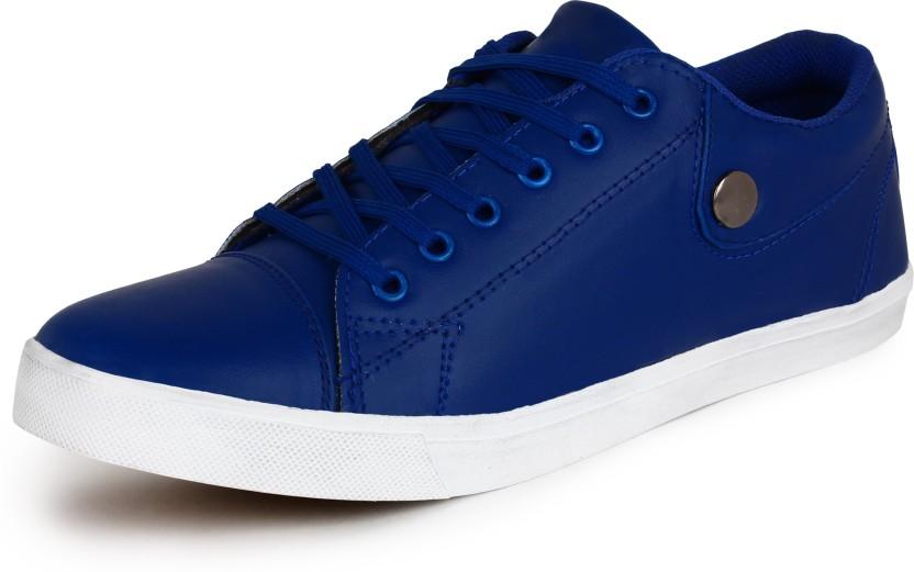 blue colour casual shoes - 60% OFF