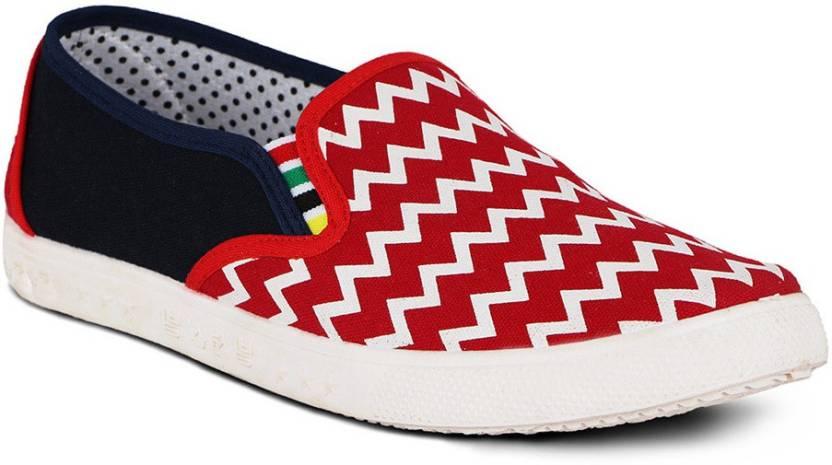 2048b89c0d1 Kielz Kielz Ladies canvas shoes Canvas Shoes For Women - Buy Red ...